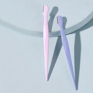 Однотонный триммер для бровей 2шт SHEIN. Цвет: многоцветный
