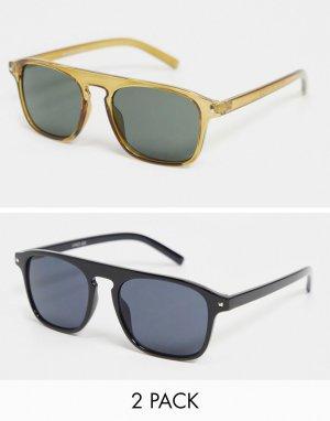 Набор из 2 солнцезащитных очков с планкой -Многоцветный Madein.