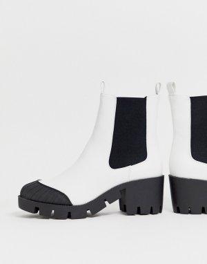 Белые массивные ботинки челси Remy-Белый ASOS DESIGN