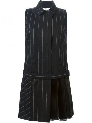 Платье-рубашка в полоску Aquilano.Rimondi. Цвет: чёрный