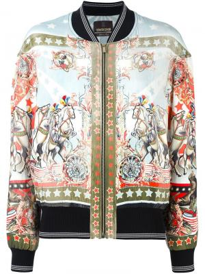 Куртка-бомбер Sound & Vision Roberto Cavalli. Цвет: многоцветный