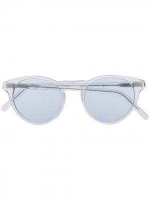 Солнцезащитные очки в круглой оправе Eleventy. Цвет: нейтральные цвета