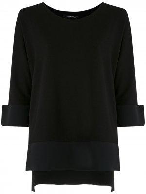 Ribbed round neck blouse Gloria Coelho. Цвет: черный