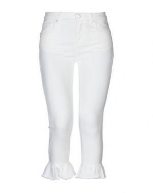 Джинсовые брюки-капри FIFTY FOUR. Цвет: белый