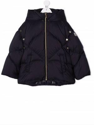 Logo-patch padded jacket Moncler Enfant. Цвет: синий