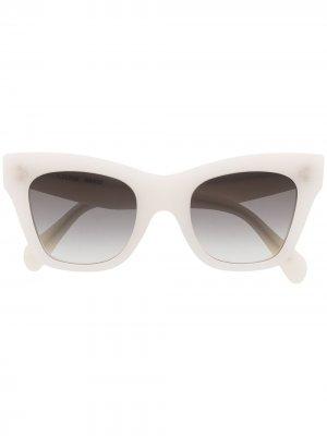 Солнцезащитные очки в оправе кошачий глаз Celine Eyewear. Цвет: белый
