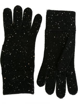 Перчатки Fendi. Цвет: чёрный