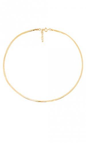 Ожерелье herringbone chain TAI Jewelry. Цвет: металлический золотой