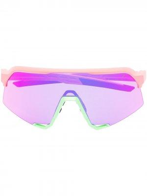 Солнцезащитные очки Neon 100% Eyewear. Цвет: розовый