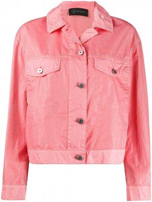 Укороченная джинсовая куртка Mr & Mrs Italy. Цвет: розовый