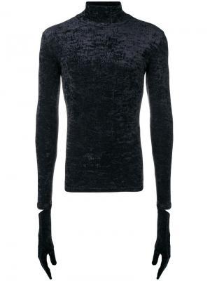 Фактурный свитер с перчатками Balenciaga. Цвет: черный