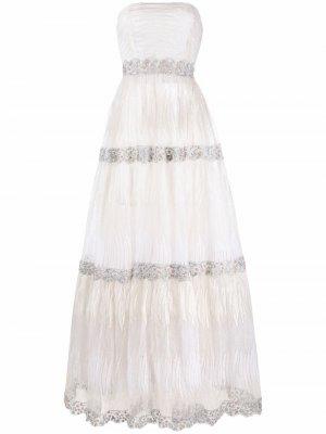 Свадебное платье Sarah Parlor. Цвет: белый