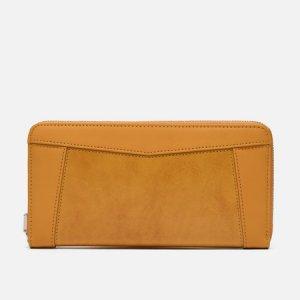Кошелек Essential Leather Round Zipper Master-piece. Цвет: жёлтый