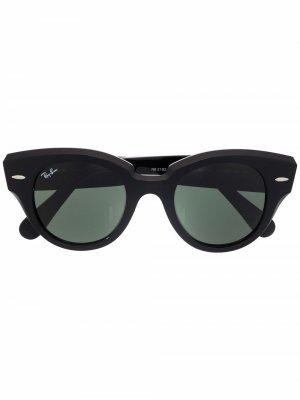Солнцезащитные очки State Street в массивной оправе Ray-Ban. Цвет: черный