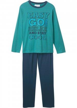 Пижама (2 изд.) bonprix. Цвет: сине-зеленый