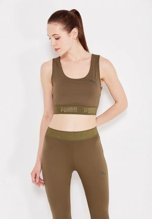Топ спортивный PUMA ACTIVE ESS Banded Crop Top. Цвет: хаки