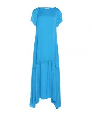 Длинное платье GOTHA. Цвет: лазурный