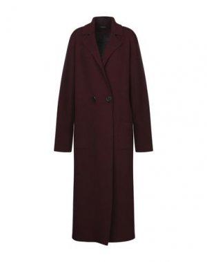 Пальто ROBERTO COLLINA. Цвет: красно-коричневый