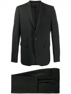 Костюм с однобортным пиджаком Les Hommes. Цвет: черный