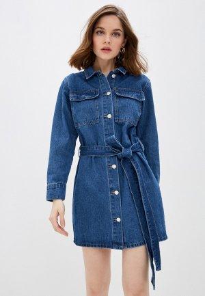 Платье джинсовое Tantra. Цвет: синий