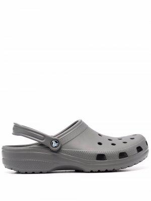 Массивные сандалии Crocs. Цвет: серый
