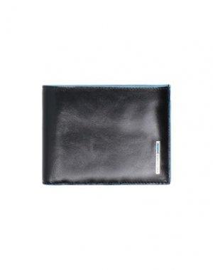 Бумажник PIQUADRO. Цвет: черный