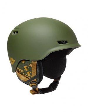 Шлем ANON. Цвет: зеленый-милитари