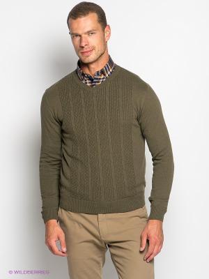 Пуловер Davani. Цвет: хаки
