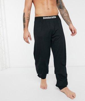 Трикотажные штаны для дома с манжетами -Черный Lambretta