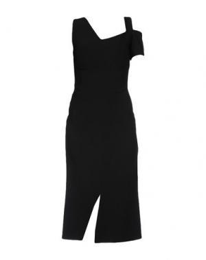 Платье длиной 3/4 ANTONIO BERARDI. Цвет: черный