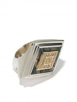 Массивное кольцо Duffy Jewellery. Цвет: серебристый