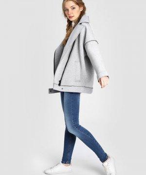 Куртка-косуха из неопрена O`Stin. Цвет: серый
