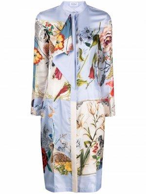 Платье с принтом Scrapbook Salvatore Ferragamo. Цвет: синий