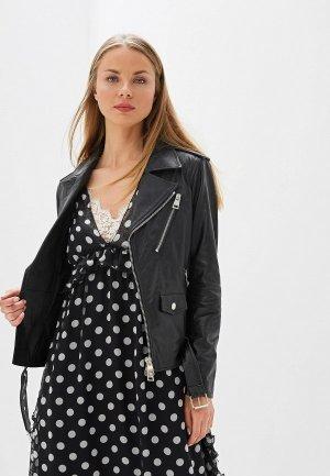 Куртка кожаная Ermanno Scervino. Цвет: черный