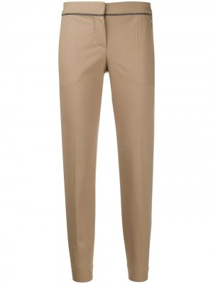 Укороченные брюки чинос кроя слим Brunello Cucinelli. Цвет: нейтральные цвета