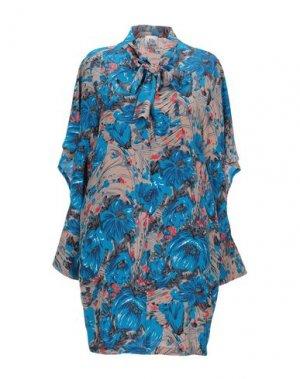 Короткое платье ATTIC AND BARN. Цвет: ярко-синий