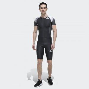 Компрессионный костюм Sprint Performance adidas. Цвет: черный