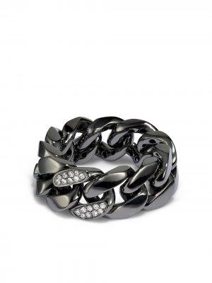 Кольцо из черного золота с бриллиантами SHAY. Цвет: черный