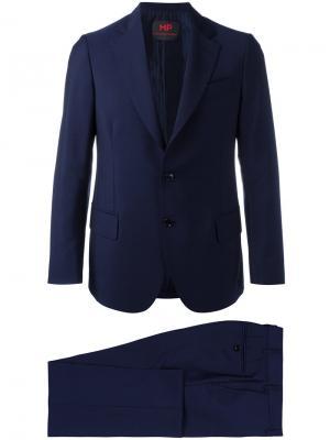Однобортный костюм Mp Massimo Piombo. Цвет: синий