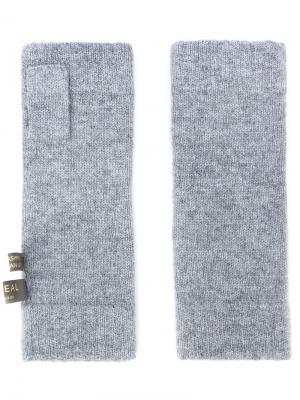 Перчатки-митенки N.Peal. Цвет: серый