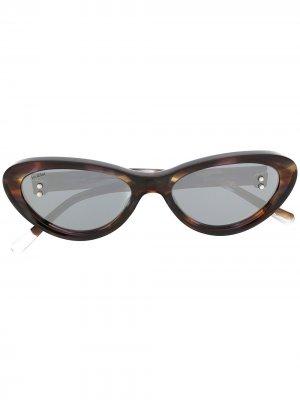 Солнцезащитные очки Flame в оправе кошачий глаз Doublet. Цвет: черный