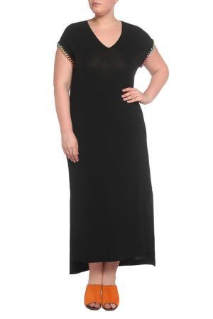 Платье 22MAGGIO. Цвет: черный, цветные цепи