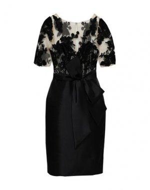 Платье до колена BADGLEY MISCHKA. Цвет: черный