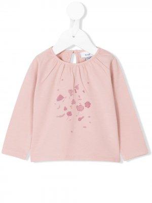 Блузка с принтом Flowers Knot. Цвет: розовый