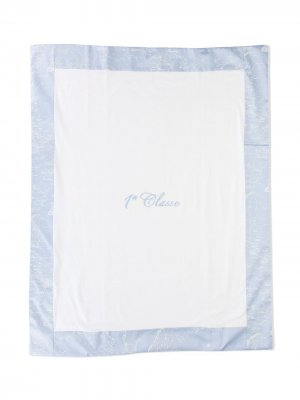 Одеяло с вышивкой Alviero Martini Kids. Цвет: белый
