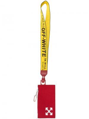 Arrows cardholder Off-White. Цвет: красный