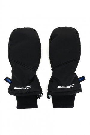 Черные варежки с карманами Off-white. Цвет: черный