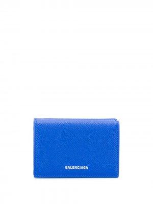 Мини-кошелек Ville Balenciaga. Цвет: синий