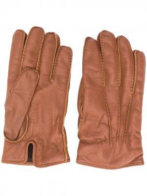 Перчатки с кашемировой подкладкой Ermenegildo Zegna. Цвет: коричневый