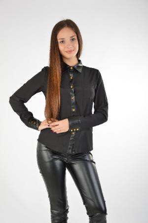 Блузка EMOI by EMONITE. Цвет: черный